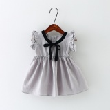 Price Comparisons For Summer New Toddler Girls Fashion Trend Burst Ribbons College Style Cotton Linen Summer Cool Princess Sleeveless Shirt Dress Intl