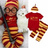 Buy Summer Newborn Baby Boys Clothes Cotton Romper Pants Hat 3Pcs Outfits Set Intl Online