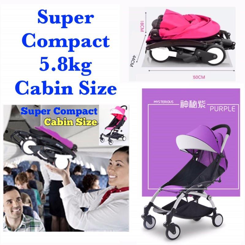 Super Compact Cabin Size Topbi Bibi Love Stroller / Pram 5.8kg - Purple Singapore