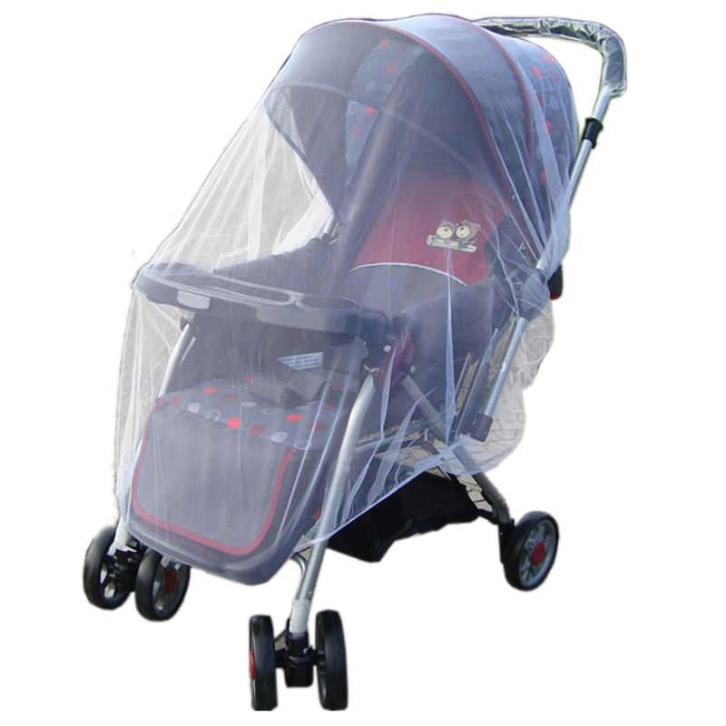 SuperCart Baby Stroller Pushchair Mosquito Insect Net (White) - Intl Singapore