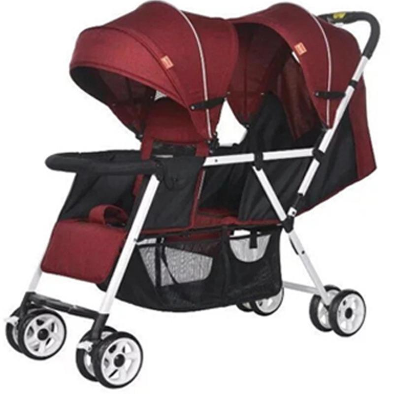 JIJI T2 Tandem Lightweight Stroller (Free Installation) - (Stroller/Prams) Dual Back Adjustable High Quality Six Wheels Design Portable Baby Carriage Stroller (Free Delivery) (SG) Singapore
