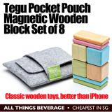 Tegu Magnetic Wooden Blocks Pouch Set Of 8 Tegu Discount