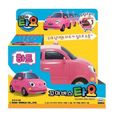 Low Price The Little Bus Tayo Heart Korean Character Pull Back Car Diecast Toy Vehicle
