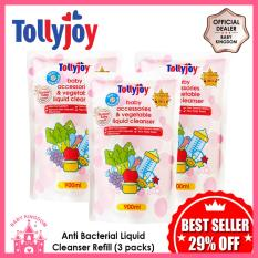 Tollyjoy Antibacterial Baby Accessories And Vegetable Liquid Cleanser Refill (3 Packs) By Baby Kingdom.