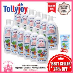 Buy Tollyjoy Baby Accessories And Vegetable Liquid Cleanser 900Ml 12 Bottles Free 1 Refill Pack Online