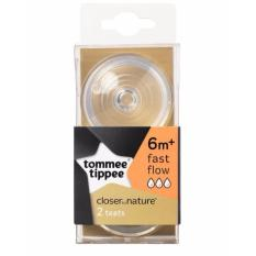 Cheap Tommee Tippee Closer To Nature 6M Teat Twin Pack Fast Flow