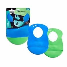 Who Sells Tommee Tippee Easi Roll Bib Bpa Free 2 Count Blue And Green Cheap