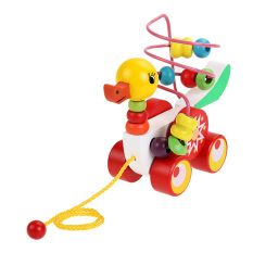 Toys For Children Educational Toys 0-3 Year Olds Duckling Trailer Round By Sportschannel.