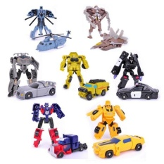 Low Price Transformation 7Pcs Lot Robots Optimus Prime Bumblebee Sideswipestarscream Action Figure Toy Legends Classic Toys Intl