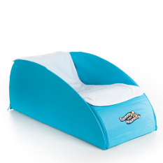 Tummy With Mummy All-In-One Foldaway Tummy Time - Aqua By Babybrands Asia.