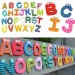 Uncle Sam Loverly Trustworthy New Kids Toys 26Pcs Wooden Cartoon Alphabet A-Zmagnets Child Educational Wooden Toys