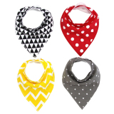 Unisex 4 Pcs Cotton Baby Feeding Triangle Saliva Towe For Sale Online