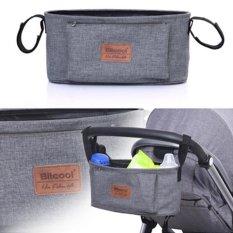 Discount Haotom Universal Baby Stroller Bag Organizer Baby Car Hanging Basket Storage Stroller Accessories Grey