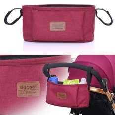 Best Price Haotom Universal Baby Stroller Bag Organizer Baby Car Hanging Basket Storage Stroller Accessories Red