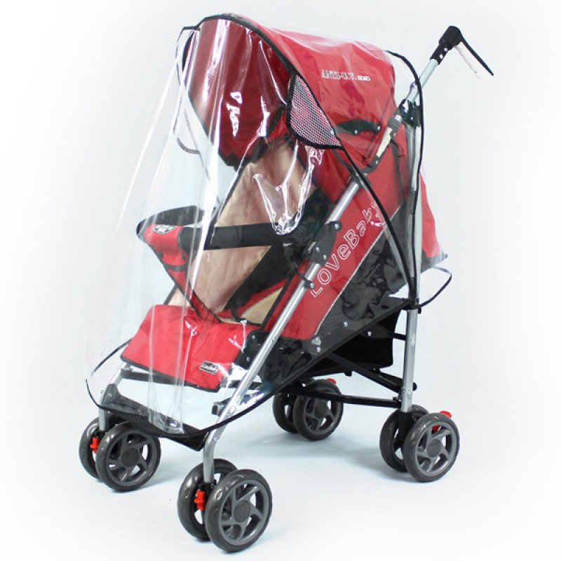 Universal Pushchair Stroller Pram Buggy Transparent Rainproof Cover Rain Shade Singapore