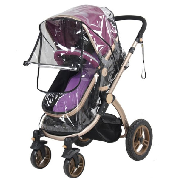 Universal PVC Pushchair Baby Stroller Pram Buggy Transparent Rainproof Cover Rain Shade with Zipper Singapore