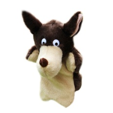 Vakind New Wolf Hand Puppet Baby Soft Doll Plush Toy Gift - intl
