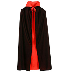 Vampire Dracula Cloak Cape For Children Kid Halloween Fancy Dress Costume 90cm Long Black Red Reversable By Stoneky.