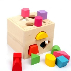 Vidatoy 13 Hole Cube For Shape Sorter Cognitive And Matching Wooden Toys Intl Lower Price