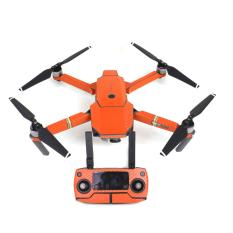 Top Rated Waterproof Carbon Fiber Stickers Rc Aircraft Skin Decals Wrap For Dji Mavic Pro Drone Orange Intl