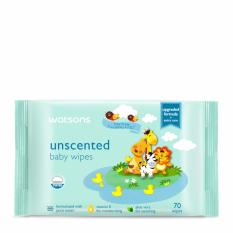 Watsons Unscented Baby Wipes 70s