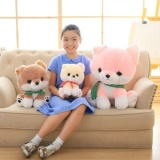 Where Can I Buy Wholesale Kawaii Dog Plush Toys Pink Yellow Khaki 25 35 50Cm Cute Pomeranian Plush Cloth Doll Stuffed Plush Kids Toys Intl