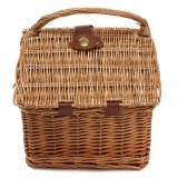 Cheap Willow Wicker Picnic Basket Hand Camping Cooler Wine Cups Plates Shopping Travel Intl Online