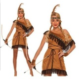 Discount Woman Native American Indian Princess Fancy Dress Cosplay Costume Suit M Intl Oem On China