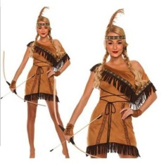 Compare Woman Native American Indian Princess Fancy Dress Cosplay Costume Suit M Intl Prices