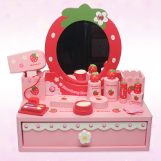 The Cheapest Baby Princess Wooden G*Rl S Makeup Children Dresser Toys Online