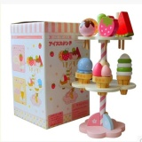 Wooden Kitchenware Ice Cream Stand Baby Kids Playhouse Toys Simulation Kitchen Oem Cheap On China