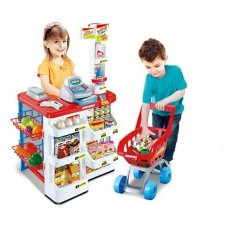 Price Comparison For Xiong Cheng 668 01 Home Supermarket Play Set Red