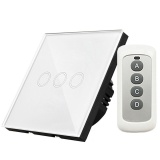 Who Sells Y603B 3 Gang 433Mhz Smart Touch Screen Wall Led Light Switch Panel Eu Plug Intl
