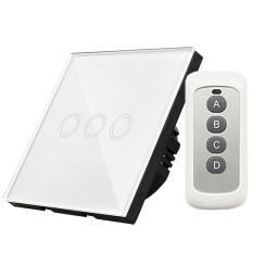 Price Y603B 3 Gang 433Mhz Smart Touch Screen Wall Led Light Switch Panel Eu Plug Intl Oem Original