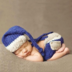 Retail Yika Newborn Baby Girls Boys Crochet Knit Costume Photo Photography Prop Outfits Intl