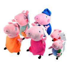 Zhouda 6Pcs Peppa Pig Plush Doll Toys Family Set Grandma Grandpapig Daddy Mummy Pig Pepe George Pig For Kids Gift Intl Lowest Price
