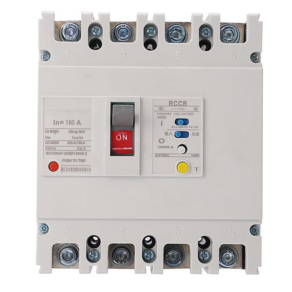 Leakage Protection Circuit Breaker, BEM1LE-250/4300 160A 3P+N Air Switch Leakage Protection Low Voltage Moulded Case