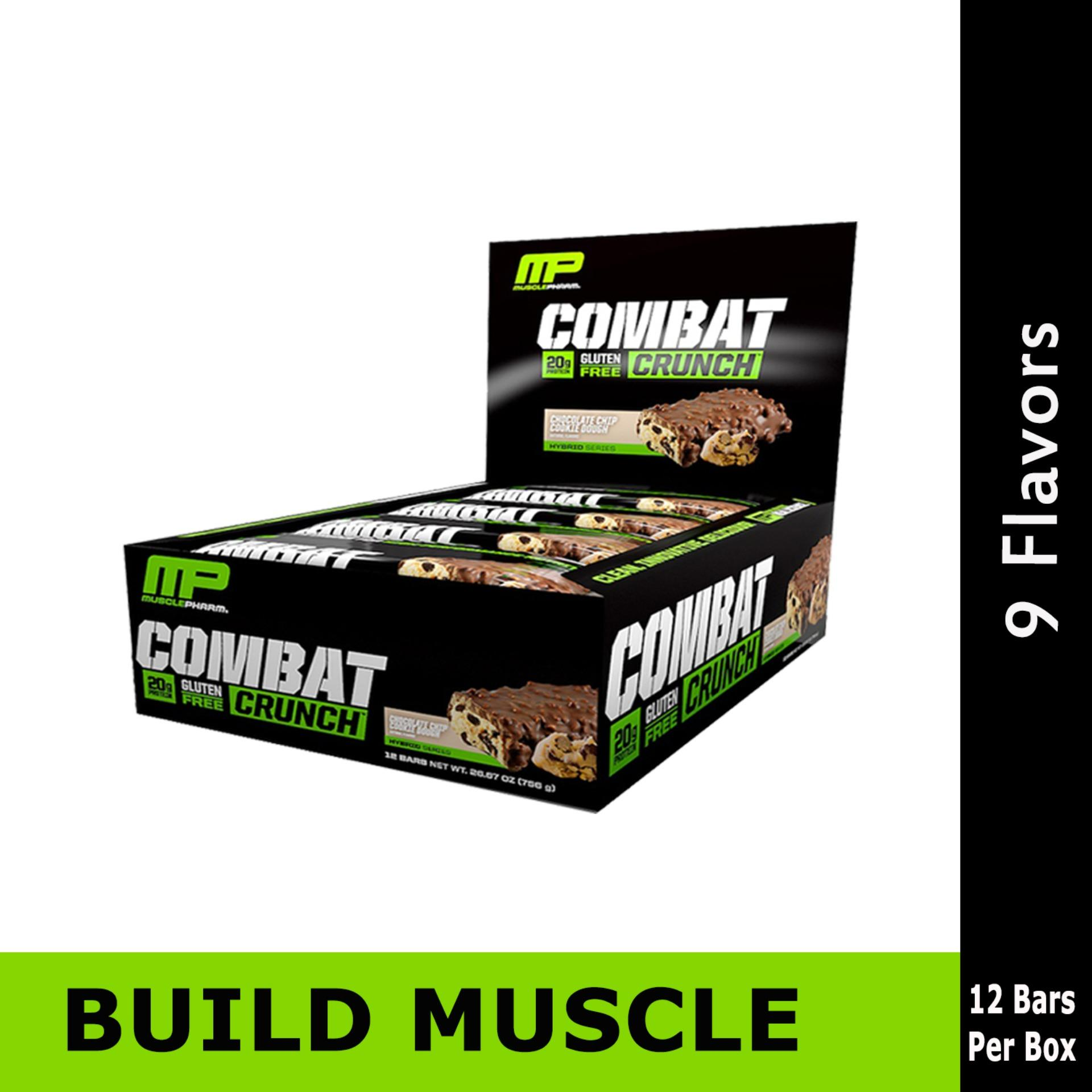 Musclepharm Combat Crunch Protein Bar, Various Flavors, 12 Bars, 63g Each By Hna.