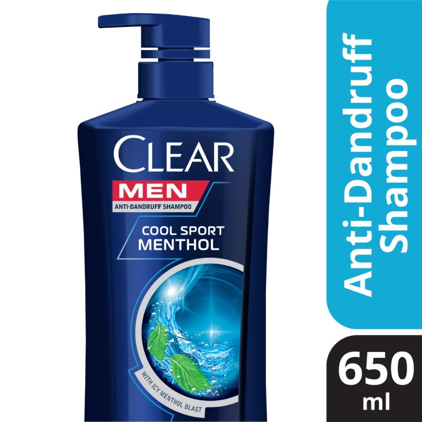 Clear Men Cool Sport Menthol Anti Dandruff Shampoo, 650ml