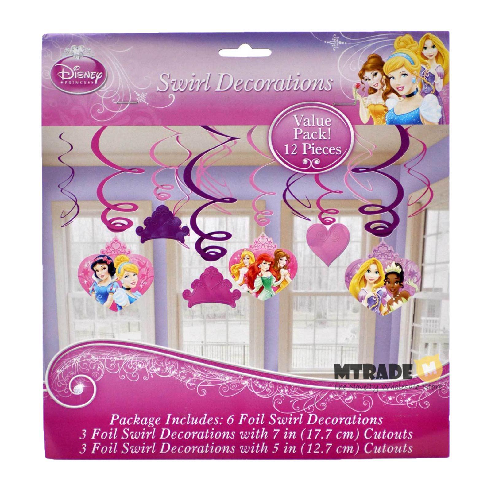 Amscan Disney Very Important Princess Swirl Danglers 12 PCS/pack