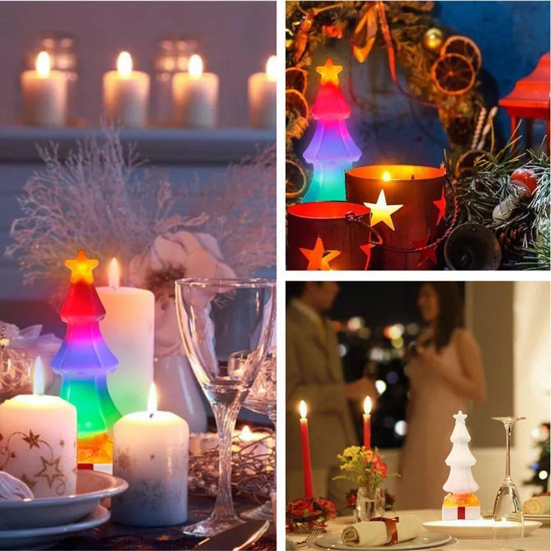 Bảng giá LED Christmas Tree Night Light USB Colorful Lamp with Crystal Salt Lava Lamp for New Year Xmas Home Holiday Decor Lighting Phong Vũ