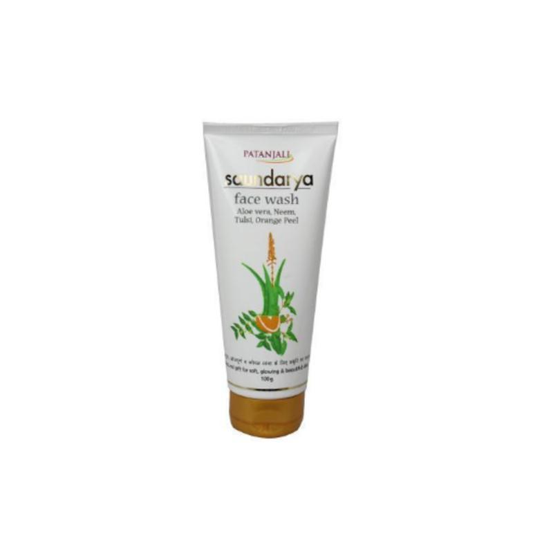 Patanjali SAUNDARYA FACE WASH (ALOEVERA, NEEM, TULSI, ORANGE PEEL)