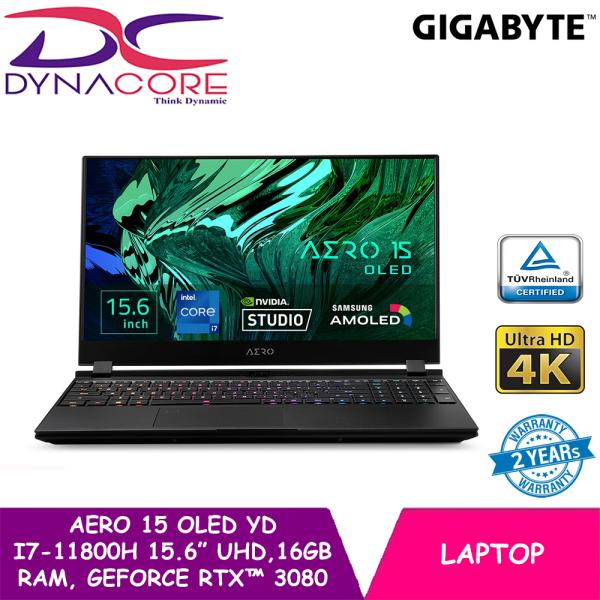 【PRE-ORDER】DYNACORE - GIGABYTE AERO 15 OLED YD i7-11800H   15.6 Thin Bezel UHD   16GB RAM   GeForce RTX™ 3080   1TB NVMe PCIe Gen4   WIN 10 HOME