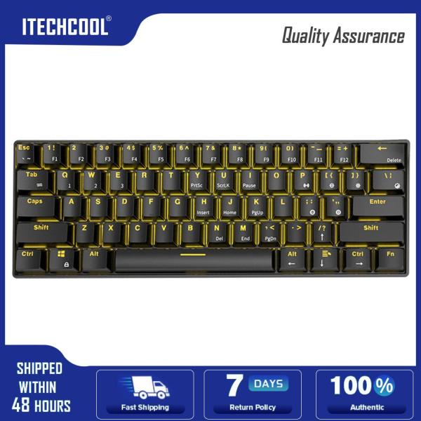 RK61 Wireless Bluetooth Wired Mechanical Backlight Gaming Keyboard (Black) Singapore