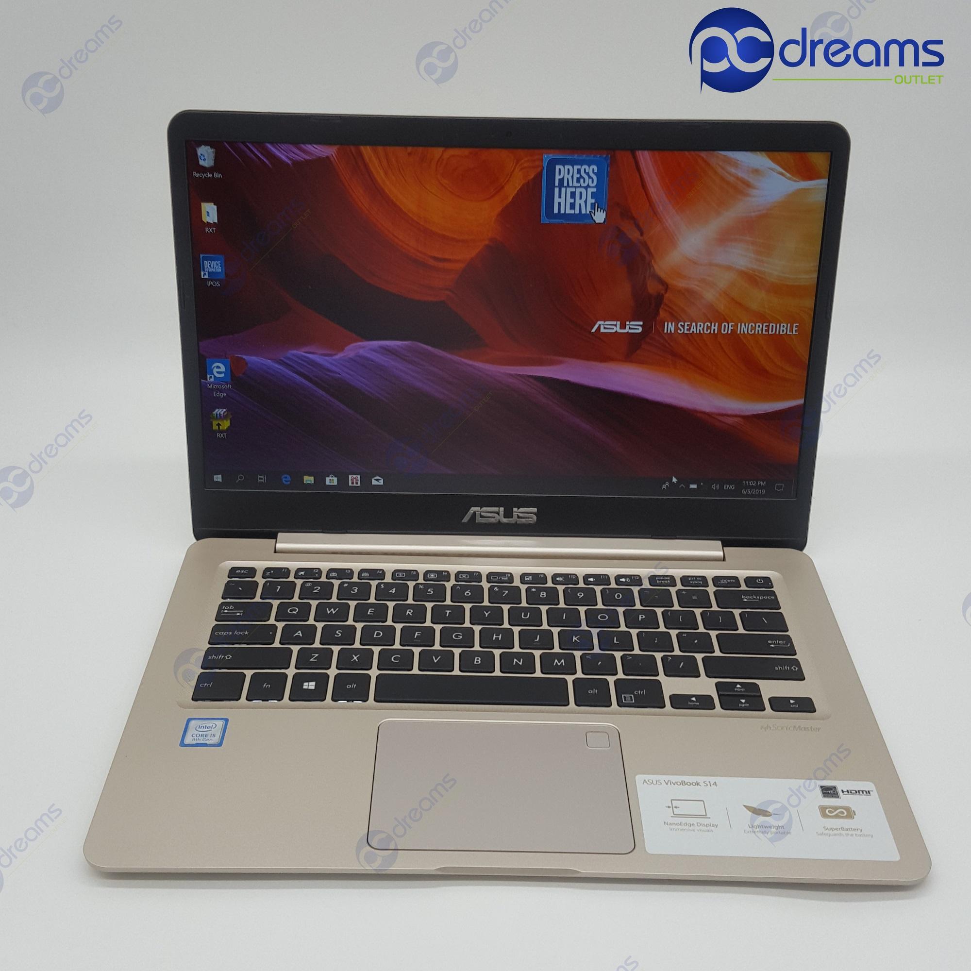 ASUS VIVOBOOK S406UA-BM146T i5-8250U/8GB/256GB SSD (1YR) [Premium Refreshed]