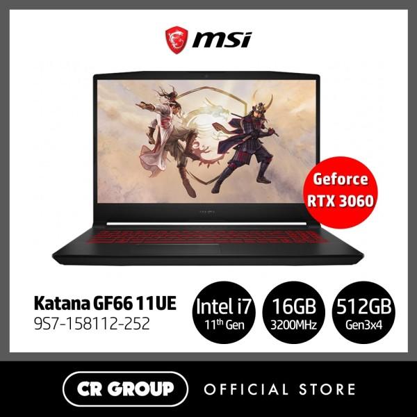 [Same Day Delivery] MSI i7 GF66 Series 144Hz Refresh Rate 15.6 Full HD Gaming Laptop GF66 11UE | 11th Gen i7-11800H + HM570 Tiger Lake | 16GB RAM | 512GB SSD | NVIDIA Geforce RTX 3060