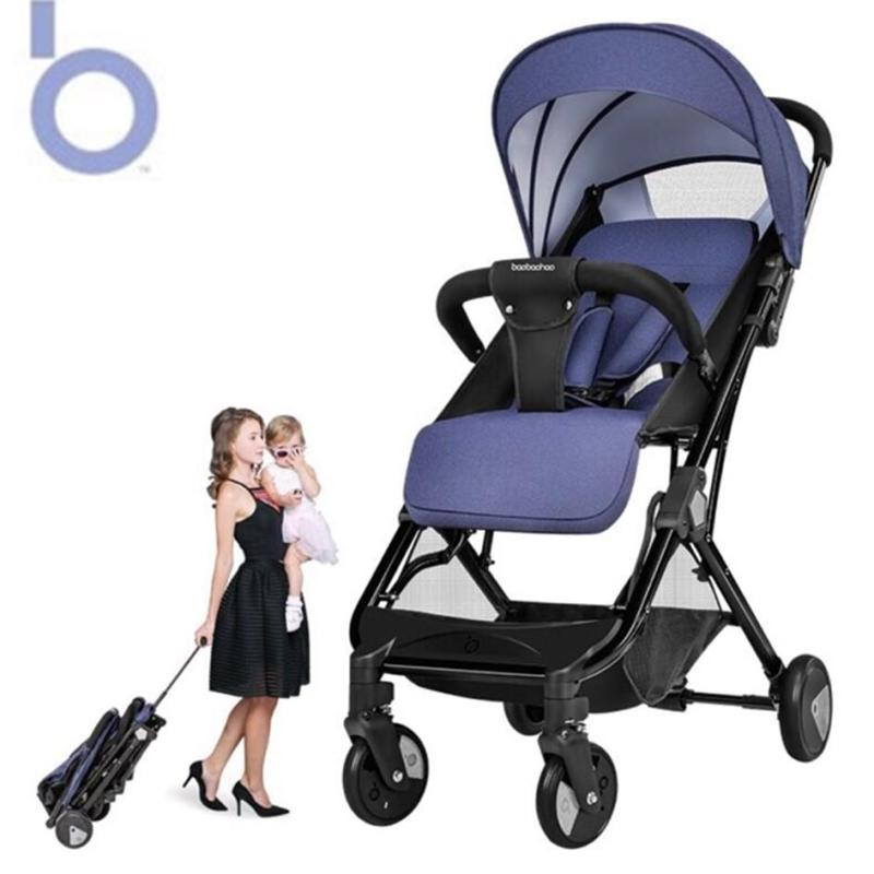 Foldable cabin one hand fold and pull lightweight Baby Stroller baobaohao Y1 mini portable plane travel size with new accessories Singapore