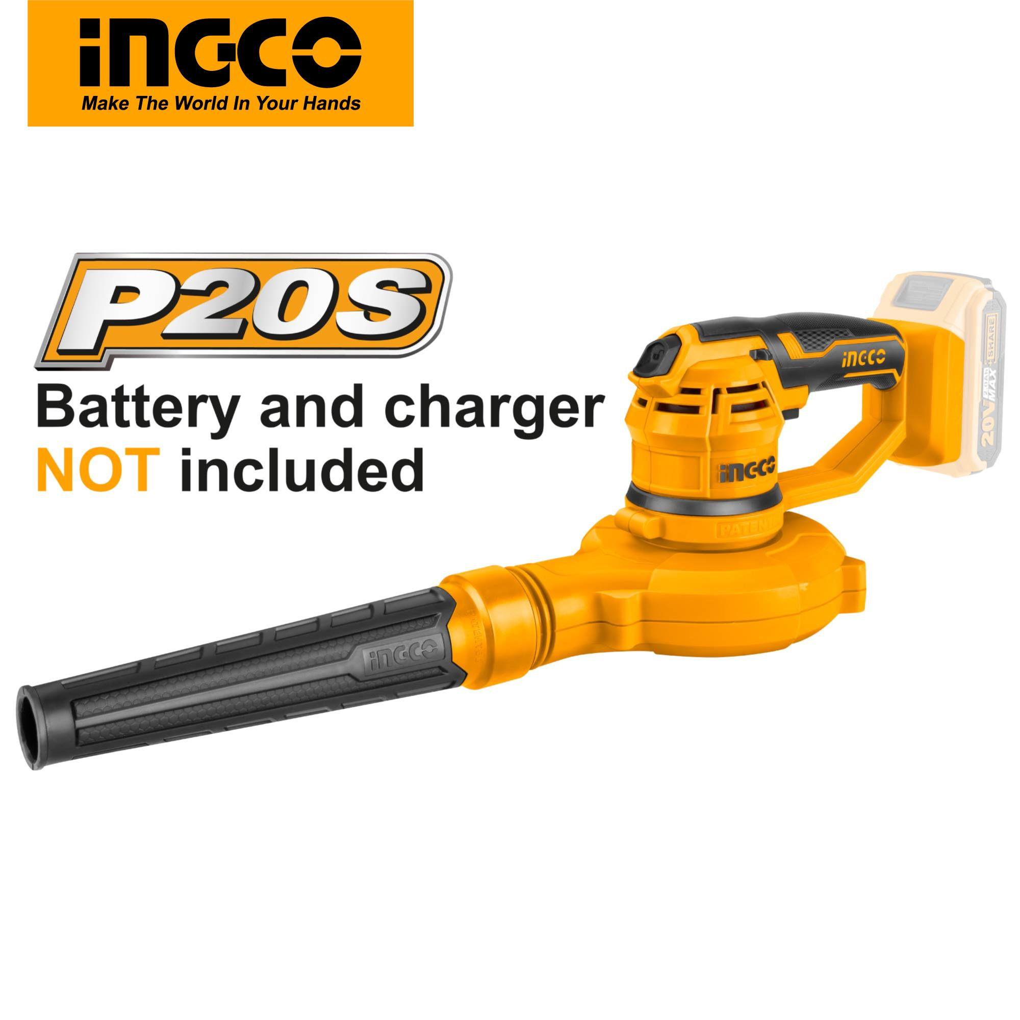 INGCO P20S Power Tools 20V Lithium-Ion Aspirator Blower CABLI2001 (Body Only)