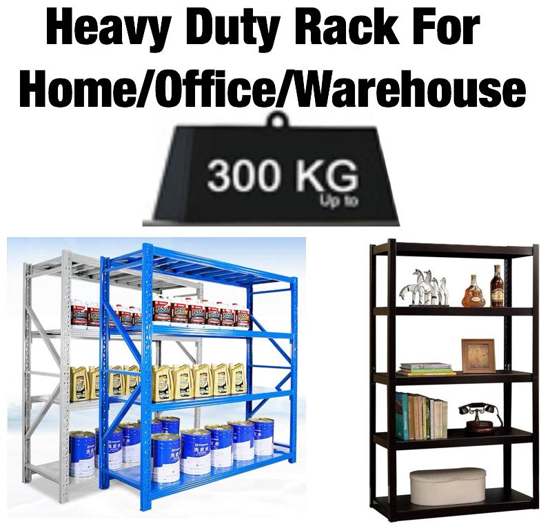 UMD super heavy duty boltless bookshelf book shelf storage rack steel rack with height adjustable shelf (Refer to option pics for type/color/size choice)