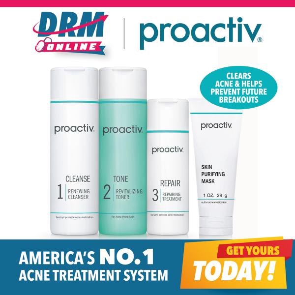 Buy [DRMONLINE] Proactiv Solution 3 pc kit  with Free Proactiv+ Skin Purifying Mask (worth $20) + FOC Emergency Blemish Relief (worth $40.90)   (Expiry Jul 21) Singapore